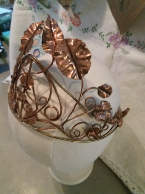 Hand forged copper crown. made to order